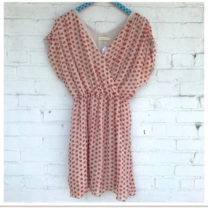 Anthro The Addison Story Collected Dots Silk Dress